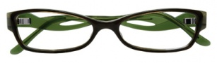 BCBGMaxazria Sybil Eyeglasses Eyeglasses - OLI Olive Horn Laminate