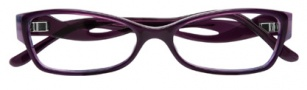 BCBGMaxazria Sybil Eyeglasses Eyeglasses - PLU Plum Horn Laminate