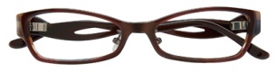 BCBGMaxazria Sybil Global Fit Eyeglasses Eyeglasses - BRO Brown Horn Laminate