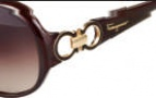 Salvatore Ferragamo SF601S Sunglasses Sunglasses - 220 Pearl Dark Brown