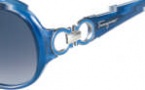 Salvatore Ferragamo SF601S Sunglasses Sunglasses - 415 Pearl Blue