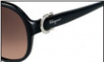 Salvatore Ferragamo SF611SR Sunglasses Sunglasses - 001 Black