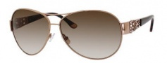 Juicy Couture Juicy 536/S Sunglasses Sunglasses - 0AU2 Rose Gold (Y6 brown gradient lens)