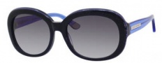 Juicy Couture Juicy 537/S Sunglasses Sunglasses - 01U6 Blue Glitter (Y7 gray gradient lens)
