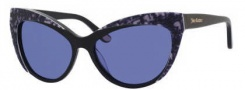 Juicy Couture Juicy 539/S Sunglasses Sunglasses - 0807 Black (L0 blue lens)
