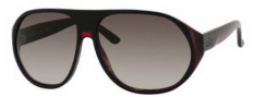 Gucci 1025/S Sunglasses Sunglasses - 0I31 Black Red Green Havana (HA brown gradient lens)