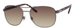 Gucci 2220 Sunglasses Sunglasses - 0W09 Semi Matte Dark Ruthenium (JD brown gradient lens)