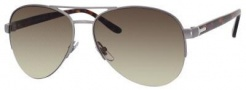 Gucci 2221 Sunglasses Sunglasses - 0W09 Semi Matte Dark Ruthenium (CC Brown Gradient Lens)