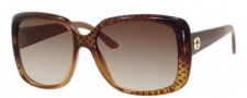 Gucci 3574 Sunglasses Sunglasses - 0W8N Cuir Gold Diamond (OH brown gradient lens)