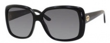 Gucci 3574 Sunglasses Sunglasses - 0W6Z Shiny Black (WJ grayshpolarized lens)