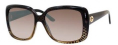 Gucci 3574 Sunglasses Sunglasses - 0W8H Black Gold Diamond (NQ brown mirror gradient lens)