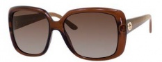Gucci 3574 Sunglasses Sunglasses - 0W7L Dark Brown Transparent (LA gray/green gradient pol lens)