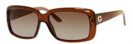 Gucci 3575/S Sunglasses Sunglasses - 0W7L Dark Brown Transparent (LA gray/green gradient pol lens)