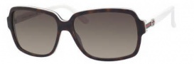 Gucci 3583/S Sunglasses Sunglasses - 0L9Y Dark Havana White (HA brown gradient lens)