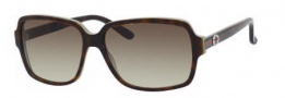 Gucci 3583/S Sunglasses Sunglasses - 0LA2 Havana Green (DB brown gray gradient lens)
