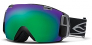 Smith Optics I/O Recon Snow Goggles Goggles - Black / Green Sol X Mirror / Extra Blue Sensor Mirror