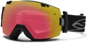Smith Optics IOX Snow Goggles Goggles - Black / Red Sensor Mirror / Extra Platinum Mirror