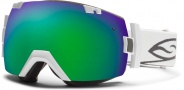 Smith Optics IOX Snow Goggles Goggles - White / Green Sol X Mirror / Extra Blue Sensor Mirror