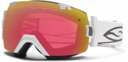 Smith Optics IOX Snow Goggles Goggles - White / Red Sensor Mirror / Extra Platinum Mirror