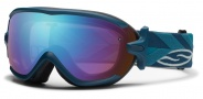 Smith Optics Virtue Snow Goggles  Goggles - Teal Riviera / Blue Sensor Mirror