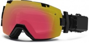 Smith Optics I/OX Elite Turbo Fan Snow Goggles Goggles - Black / Photochromic  Red Sensor / Extra Red Sol X Mirror