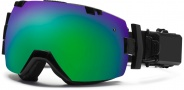 Smith Optics I/OX Elite Turbo Fan Snow Goggles Goggles - Black / Green Sol X Mirror / Extra Blue Sensor Mirror
