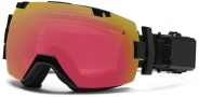 Smith Optics I/OX Elite Turbo Fan Snow Goggles Goggles - Black / Red Sensor Mirror / Extra Platinum Mirror
