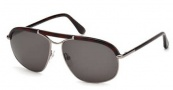 Tom Ford FT0234 Russel Sunglasses Sunglasses - 13A Matte Dark Ruthenium / Smoke