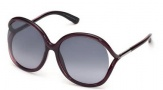 Tom Ford FT0252 Rhi Sunglasses  Sunglasses - 05B Black / Gradient Smoke