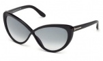 Tom Ford FT0253 Madison Sunglasses Sunglasses - 01B Shiny Black / Gradient Smoke
