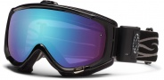 Smith Optics Phenom Turbo Fan Snow Goggles Goggles - Black / Blue Sensor Mirror