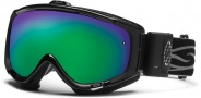 Smith Optics Phenom Turbo Fan Snow Goggles Goggles - Black / Green Sol X Mirror
