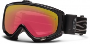 Smith Optics Phenom Turbo Fan Snow Goggles Goggles - Black / Red Sensor Mirror