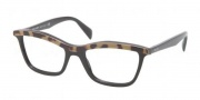 Prada PR 17PV Eyeglasses Eyeglasses - MA5101 Top Medium Havana / Black Demo Lens