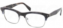 Prada PR 22OV Eyeglasses  Eyeglasses - EAR101 Striped Blue Horn / Demo Lens