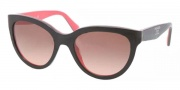 Prada PR 05PS Sunglasses Sunglasses - KA30A5 Top Black / Grey / Coral Brown Gradient