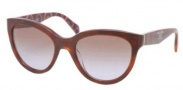 Prada PR 05PS Sunglasses Sunglasses - MAU6P1 Top Havana / Hexagon Brown Gradient