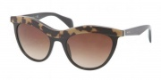 Prada PR 06PS Sunglasses Sunglasses - MA56S1 Top Medium Havana / Black Brown Gradient