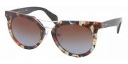 Prada PR 08PS Sunglasses  Sunglasses - NAG0A4 Havana Spotted / Blue Brown Gradient