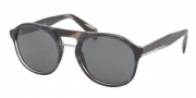 Prada PR 09PS Sunglasses  Sunglasses - EAR1A1 Striped Blue Horn Gray