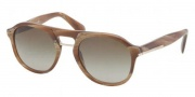 Prada PR 09PS Sunglasses  Sunglasses - MAQ1X1 Light Horn / Brown Gradient