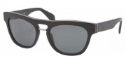 Prada PR 10PS Sunglasses Sunglasses - 1BO1A1 Matte Black Gray