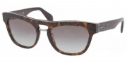 Prada PR 10PS Sunglasses Sunglasses - 2AU3M1 Havana Gray Gradient