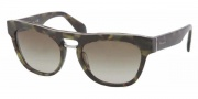 Prada PR 10PS Sunglasses Sunglasses - NAJ1X1 Matte Green / Havana Brown Gradient 