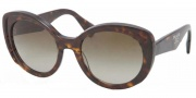 Prada PR 12PS Sunglasses Sunglasses - 2AU1X1 Havana / Matte Havana / Brown Gradient