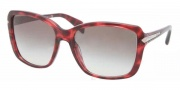 Prada PR 14PS Sunglasses Sunglasses - KAQ0A7 Red Havana / Gray Gradient