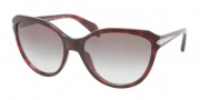 Prada PR 15PS Sunglasses Sunglasses - KAQ0A7 Red Havana / Gray Gradient