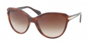 Prada PR 15PS Sunglasses Sunglasses - MA46S1 Top Light Havana