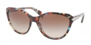 Prada PR 15PS Sunglasses Sunglasses - NAG0A4 Havana Spotted Blue / Brown Gradient