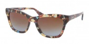 Prada PR 16PS Sunglasses Sunglasses - NAG0A4 Havana Spotted Blue / Brown Gradient